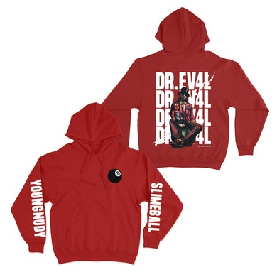 Young Nudy 8 Ball Red Hoodie