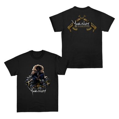 Young Nudy Rich Shooter Black T-Shirt