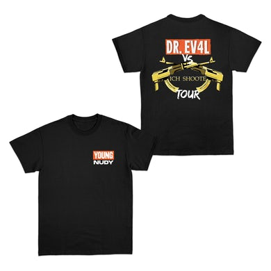 Young Nudy Tour Black T-Shirt