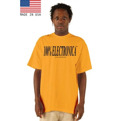 """100% Electronica """"Los Angeles"""" Gold/Black Oversized™ Tee - SS21"""