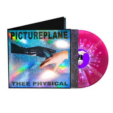 THEE PHYSICAL LP (Holographic Foil 10 Year Anniversary Edition) on Grape with White Splatter Vinyl