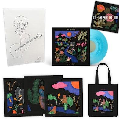 Jose Gonzalez [PRE-ORDER // DELUXE BUNDLE] Local Valley LP Coloured Vinyl + 3 Art Prints (signed by José González) + Original Portrait Painting of José González + Totebag
