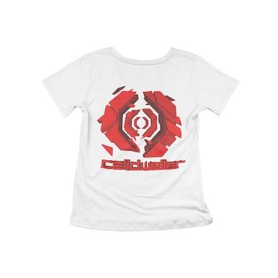 Celldweller - Gateway Women's Cut T-Shirt (Red on White)