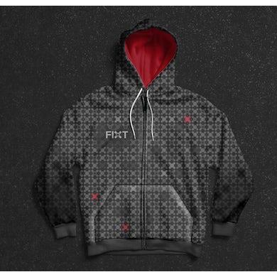 FiXT - Logo All-Over Print Zip-Up Hoodie