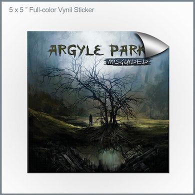 "Circle of Dust Argyle Park - Misguided 5x5"" Vinyl Sticker"