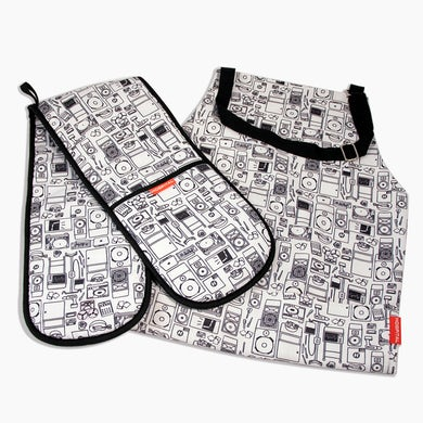 Hospital Records Hospital Apron and Oven Gloves