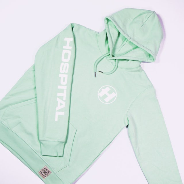 Hospital Records Hospital Essential Hood - Mint Green