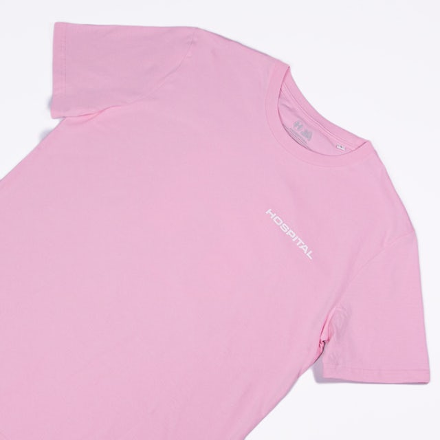 Hospital Records Essential Tee - Pastel Pink