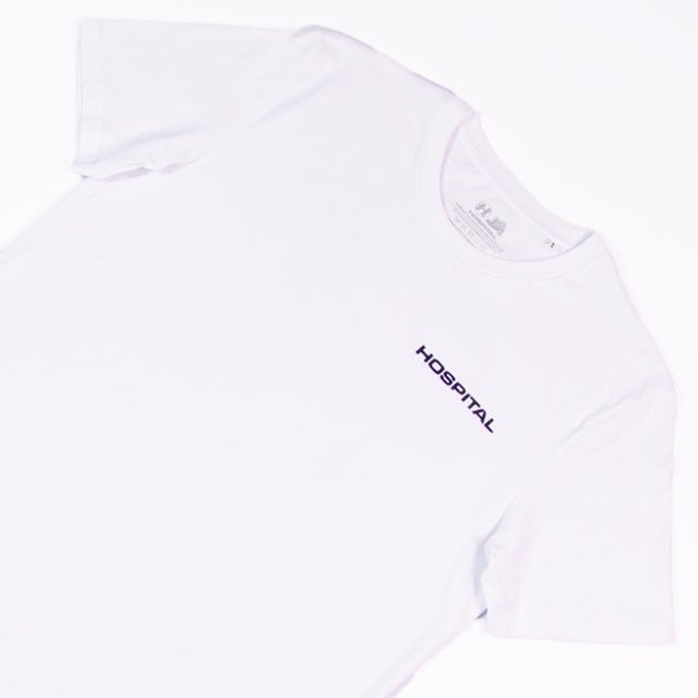 Hospital Records Essential Tee White