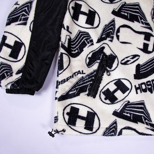 Hospital Records Warped Half Zip Sherpa