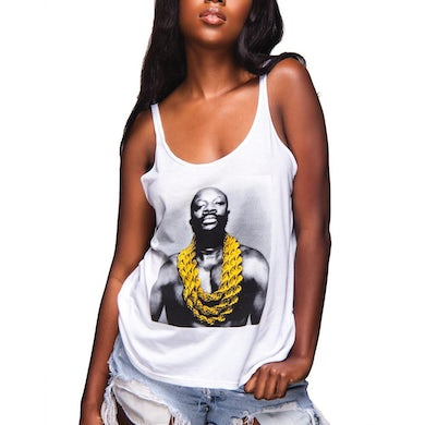 Isaac Hayes Solid Gold Slouchy Tank (White)
