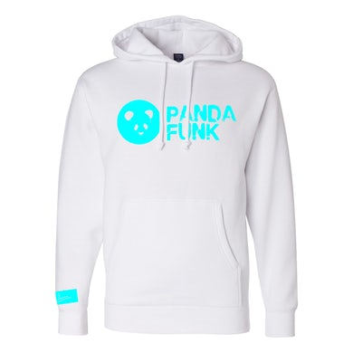 Deorro Signature Panda Funk White Pullover Hoodie (Blue Print) Pre-Order