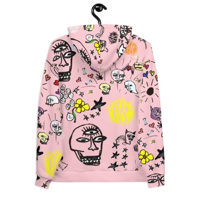 MOD SUN Art All Over Pink Hoodie