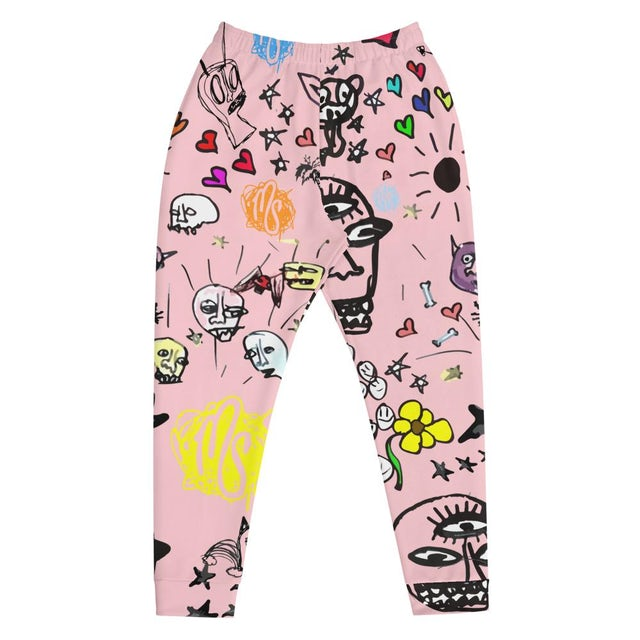 MOD SUN Art All Over Men's Pink Joggers