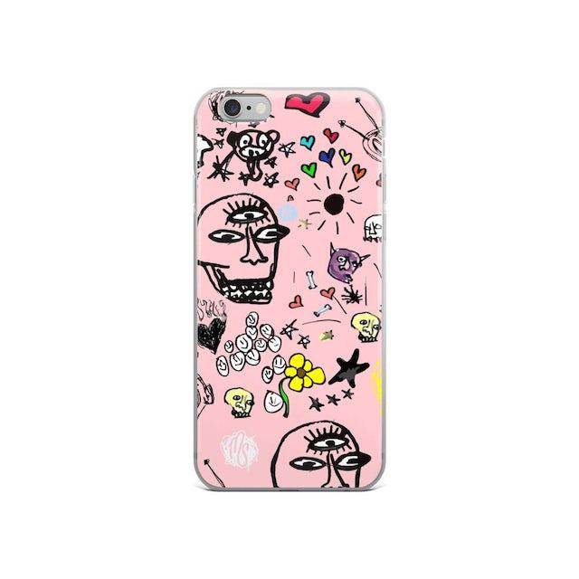 MOD SUN Art All Over Pink iPhone Case