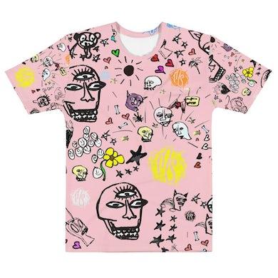 MOD SUN Art All Over Men's Pink T-shirt