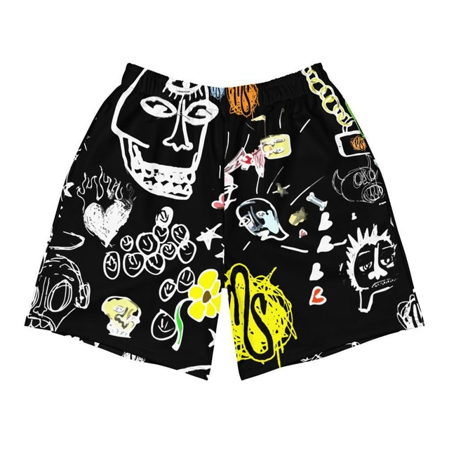 MOD SUN Art All Over Men's Black Shorts