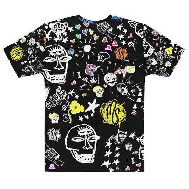 MOD SUN Art All Over Men's Black T-shirt