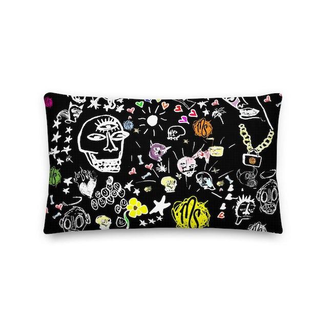 MOD SUN Art All Over Premium Black Pillow