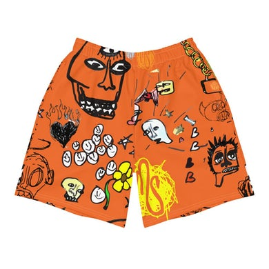 MOD SUN Art All Over Men's Orange Shorts