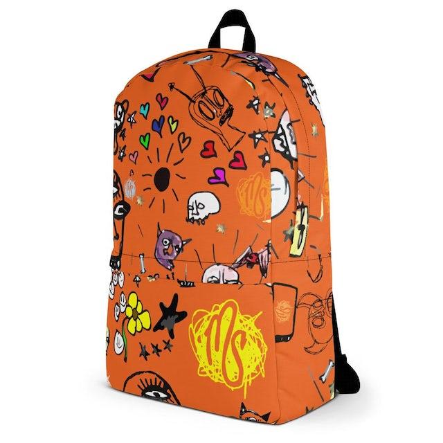 MOD SUN Art All Over Orange Backpack
