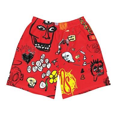 MOD SUN Art All Over Men's Red Shorts