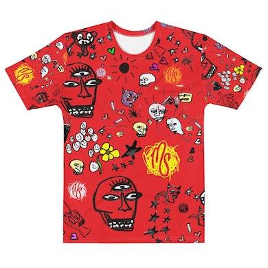 MOD SUN Art All Over Men's Red T-shirt