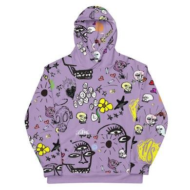 MOD SUN Art All Over Purple Hoodie