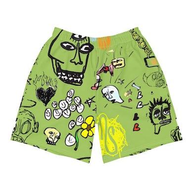 MOD SUN Art All Over Men's Green Shorts