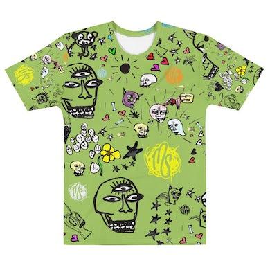 MOD SUN Art All Over Green Men's T-shirt