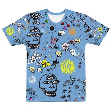 MOD SUN Art All Over Men's Blue T-shirt