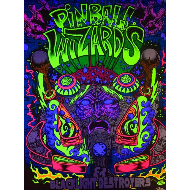 Dirty Donny Pinball Wizards and Blacklight Destroyers Poster