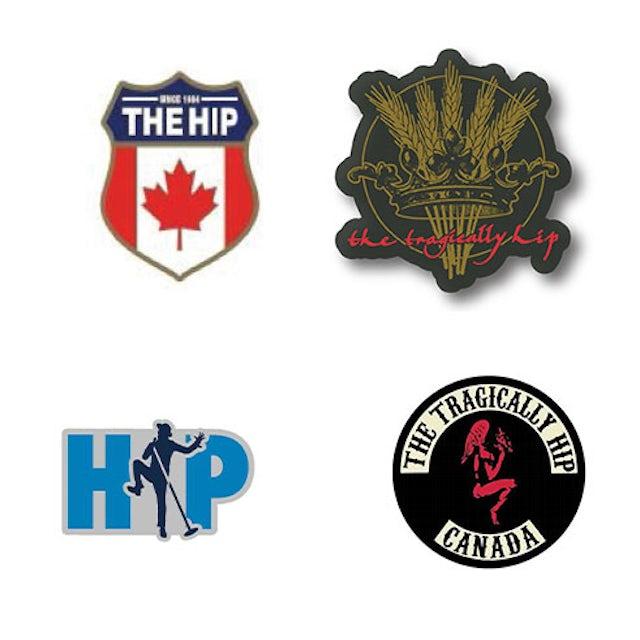 The Tragically Hip Hip Pins - 4 pack