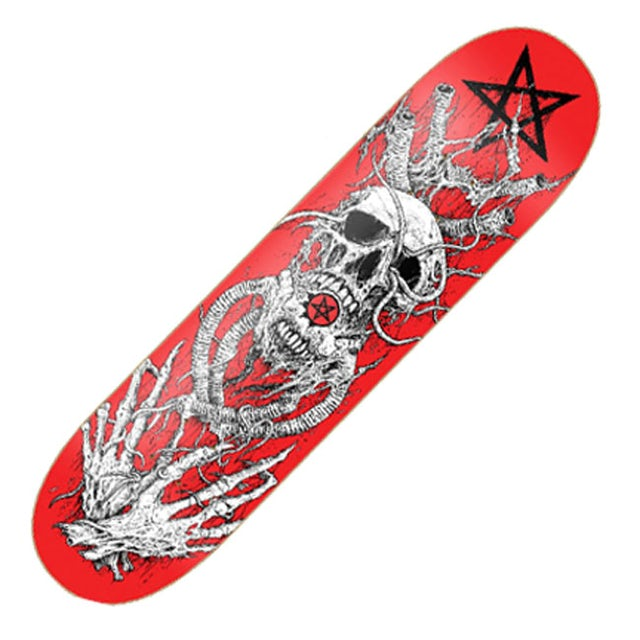 Arch Enemy Red Skull SkateBoard