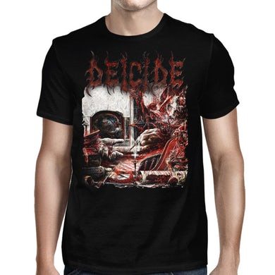 Deicide Overtures Of Blasphemy Album Cover Black T-Shirt