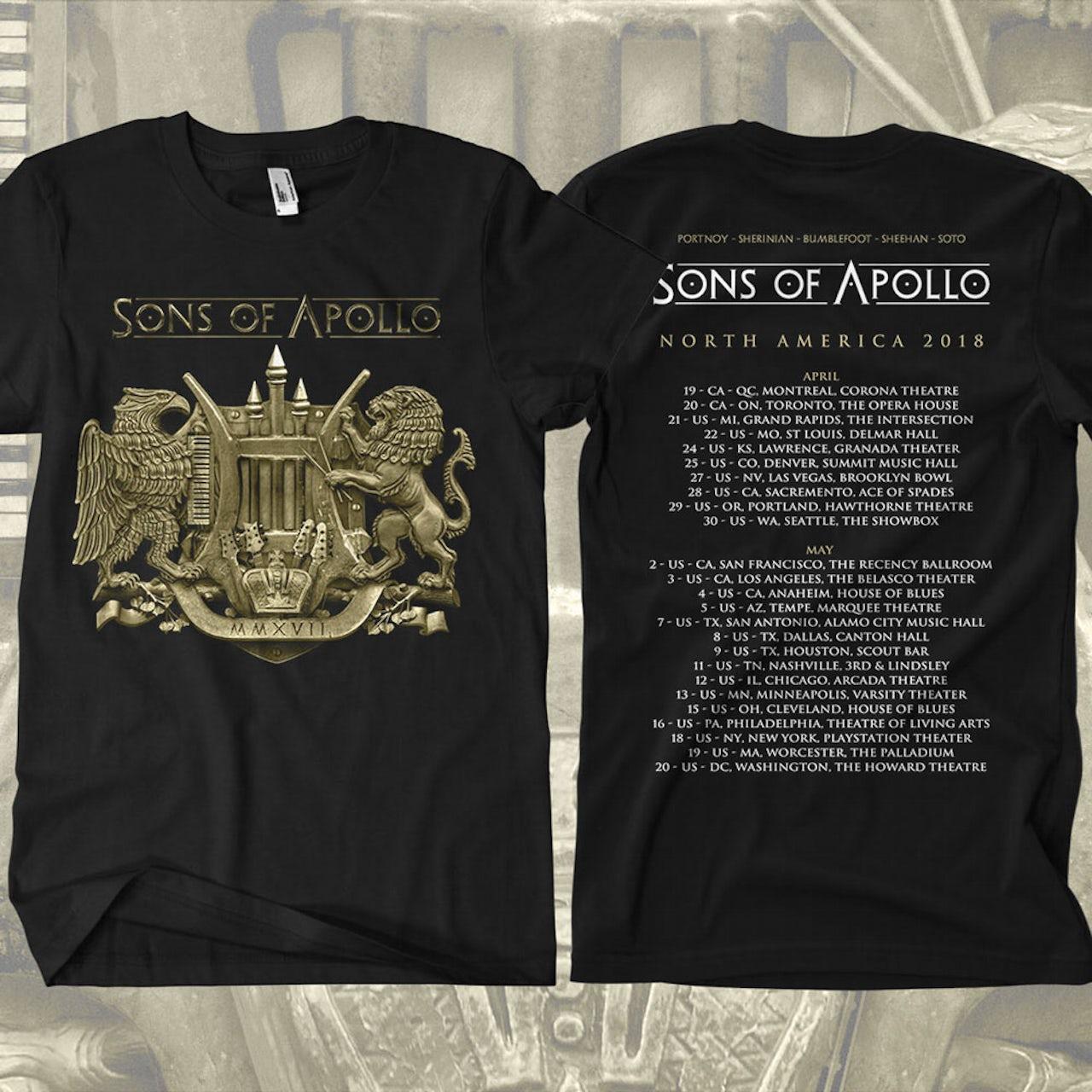 2a3f1dc81f5 Sons Of Apollo North America 2018 Tour Dates Black T-Shirt