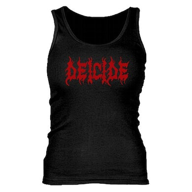 Deicide Red Logo/Ladies Ribbed Tank Top