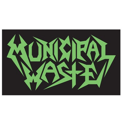 Municipal Waste Green Logo Sticker
