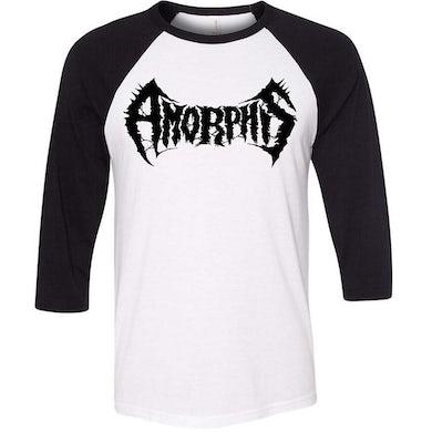 AMORPHIS Logo Black & White Raglan