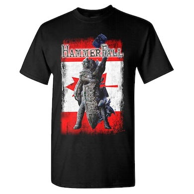 HAMMERFALL Rebuilt To Tour Canada Black T-Shirt
