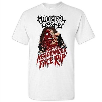 MUNICIPAL WASTE Headbanger Face Rip White T-Shirt