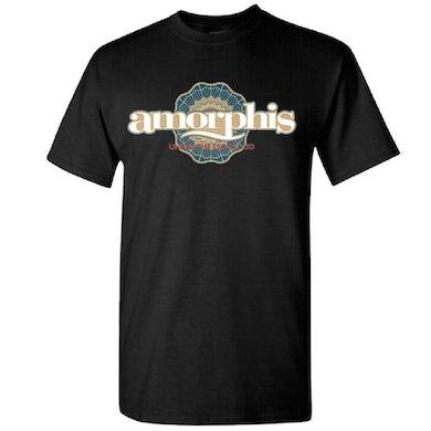 AMORPHIS Red Cloud Sun Logo Black T-Shirt