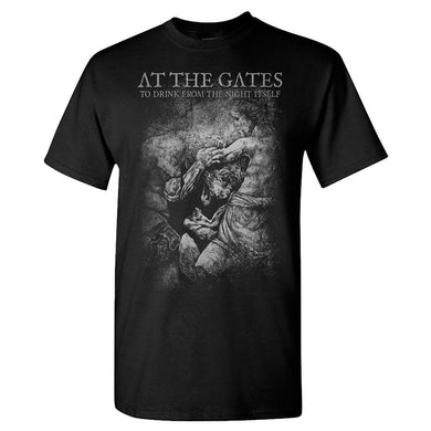 AT THE GATES Drink From The Night Itself Grey Lion T-Shirt