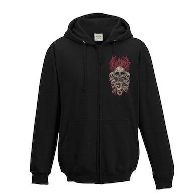 Pocket Skulls Logo Zip Hoodie