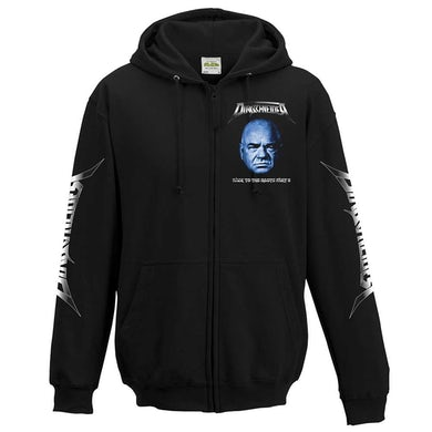 DIRKSCHNEIDER Blue Face Victory Skull Zip Hoodie
