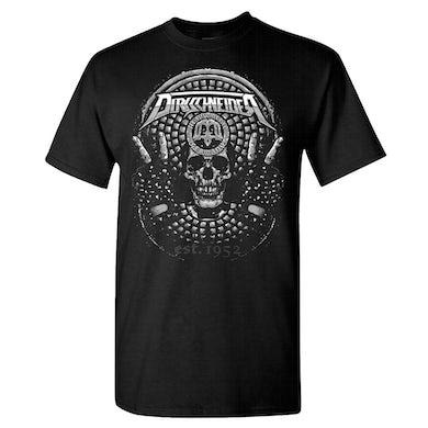 DIRKSCHNEIDER Victory Skull Date Back Black T-Shirt
