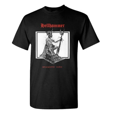 HELLHAMMER Red Logo Apocalyptic Raids T-Shirt