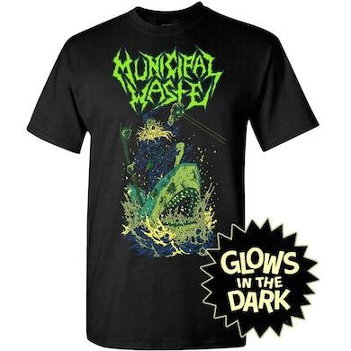 MUNICIPAL WASTE Glow Shark Black T-Shirt