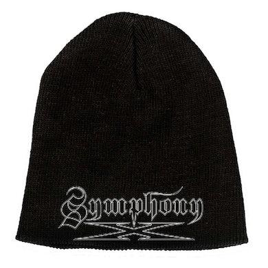 """SYMPHONY X White Logo 9"""" Beanie"""