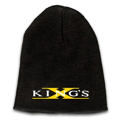 Emblem Embroidered Logo Beanie - Yellow X